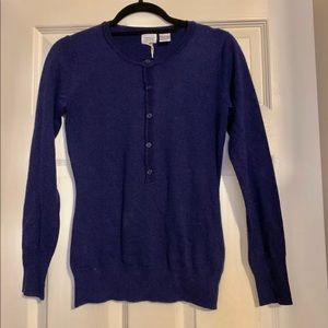 La Redoute Essentials blue wool cardigan